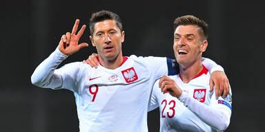Lewandowski schießt Polen zu 3:0-Sieg