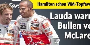 Niki Lauda warnt Bullen vor McLaren