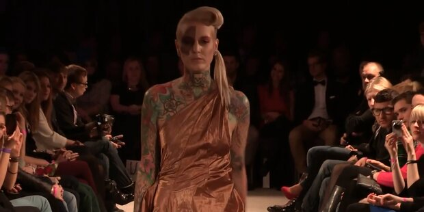 Österreich-Model auf Berliner Fashion Week