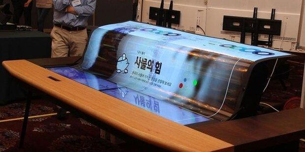 So spektakulär wird der Fernseher der Zukunft - flexibles