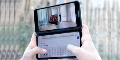 LG V50 ThinQ 5G hat ein zweites Display