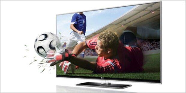 3D-Fernseher von LG mit Full-LED-Technik