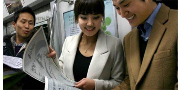 Riesiges biegsames E-Paper-Display
