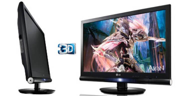 FullHD 3D-Monitor mit 120 Hz von LG