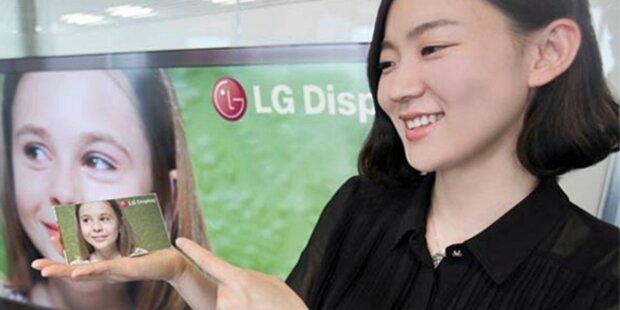 LG zeigt FullHD-Display für Smartphones