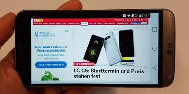 LG G5 im großen oe24.at-Test