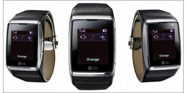 LG bringt Handyuhr mit Touchscreen