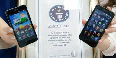 LG Optimus 2X steht im Guinness-Buch