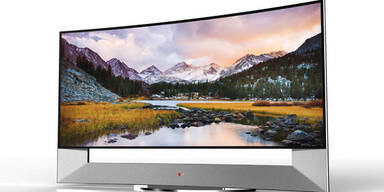 LG zeigt größten gebogenen UHD-TV