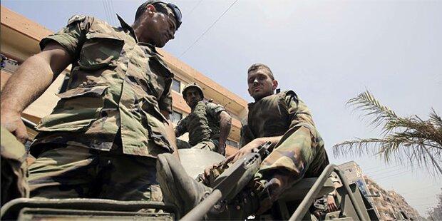 Libanesische Soldaten an Grenze erschossen