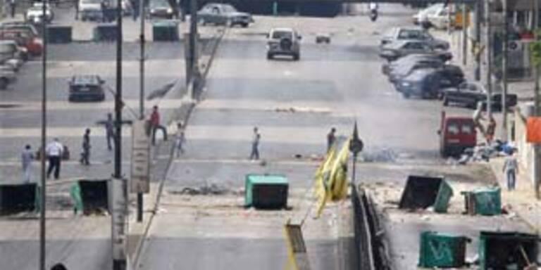 Sunniten und Schiiten bekämpfen sich im Libanon