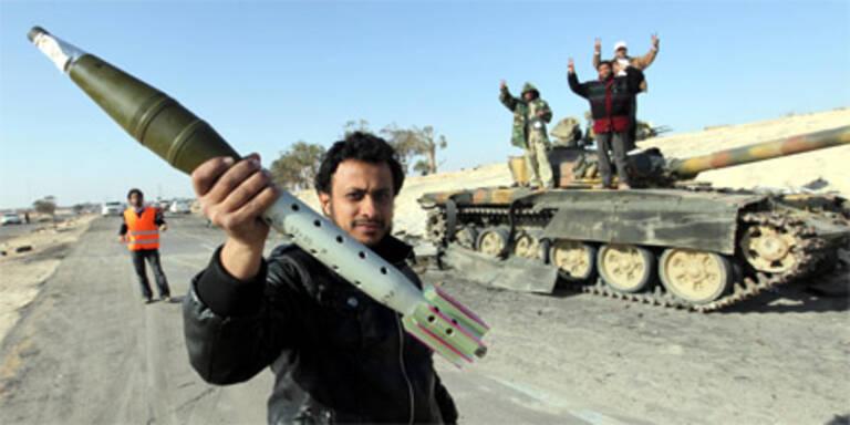 Libyens Rebellen wollen Waffen vom Westen