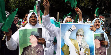 Libyen Gaddafi-Anhänger