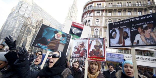 Libyer protestieren auch in Wien