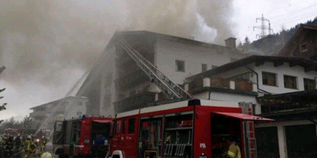 Elternhaus von Mario Matt in Flammen