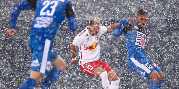 Schnee-Chaos: Erstliga-Partie abgebrochen