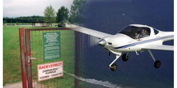 Kleinflugzeug mitten in der Stadt notgelandet