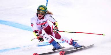 Zwei ÖSV-Damen bei Parallelrennen im Finale