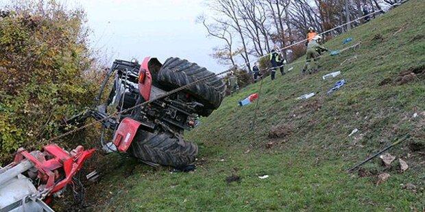 18-Jähriger von Traktor überrollt - tot