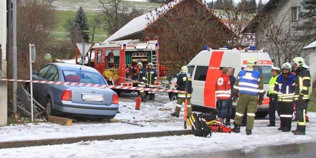 Verkehrsunfälle wegen Wintereinbruch