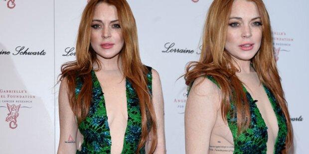 Lindsay Lohan zeigt so viel Busen wie möglich
