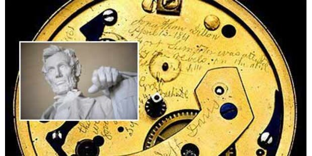 Geheimbotschaft in Lincolns Uhr entdeckt