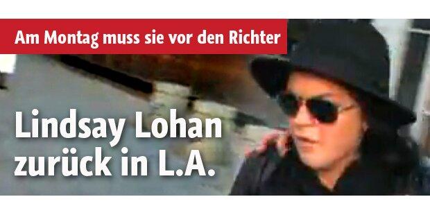 Lindsay Lohan am Montag vor Gericht