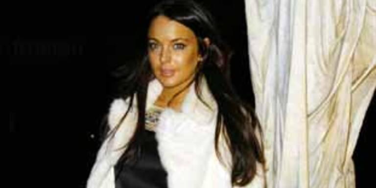 Lindsay Lohan steht auf Pelz
