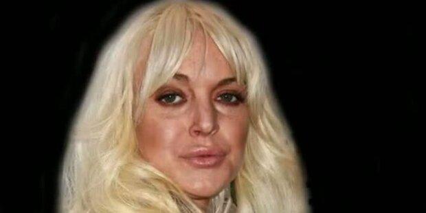 Gruselig: Lohans Gesicht im Zeitraffer