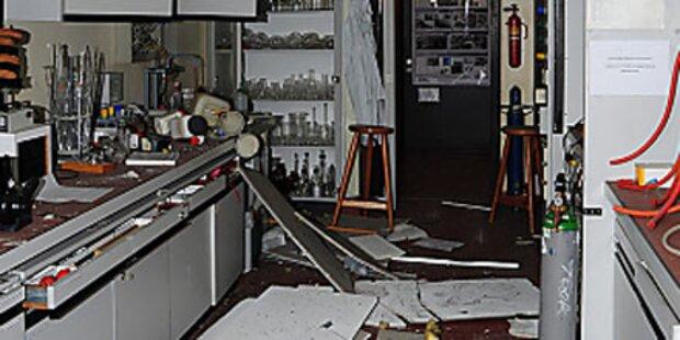 Explosion an Linzer Universität