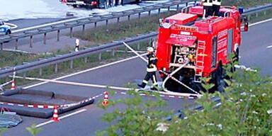 Lkw-Brand auf der Südautobahn