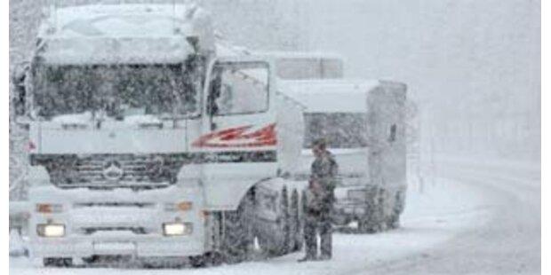 Kettenpflicht für Lkw in NÖ