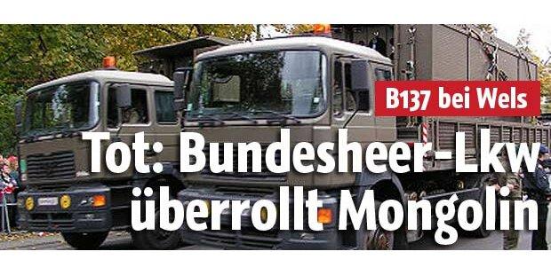 Bundesheer-Lkw tötet Radfahrerin