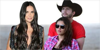Demi Moore; Ashton Kutcher & Mila Kunis