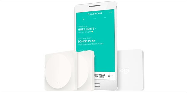 pop switch logitech bringt smart home steuerung. Black Bedroom Furniture Sets. Home Design Ideas