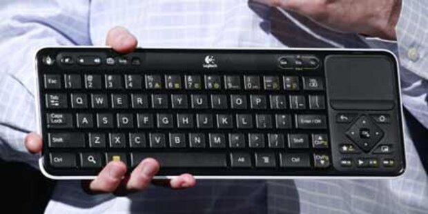 Logitech-Box für Google-TV  präsentiert