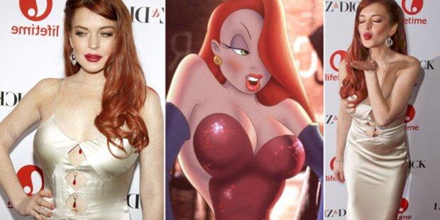 Lohan: Styling-Tipps von Jessica Rabbit?