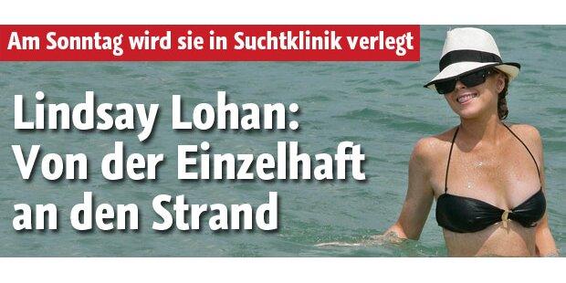 Lohan: Von Einzelhaft an den Strand