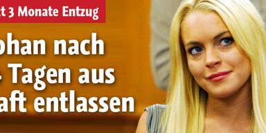 Gefängnis: Lindsay Lohan ist draußen!