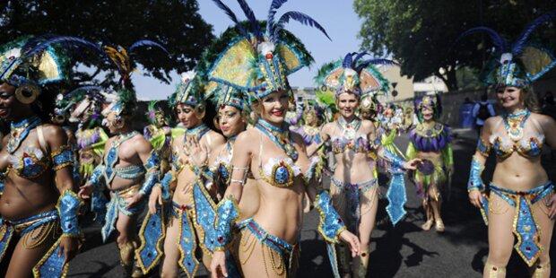 Hunderttausende bei Notting Hill-Karneval