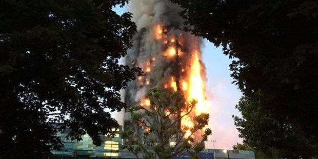 Flammen-Inferno: Zahl der Todesopfer auf 17 gestiegen