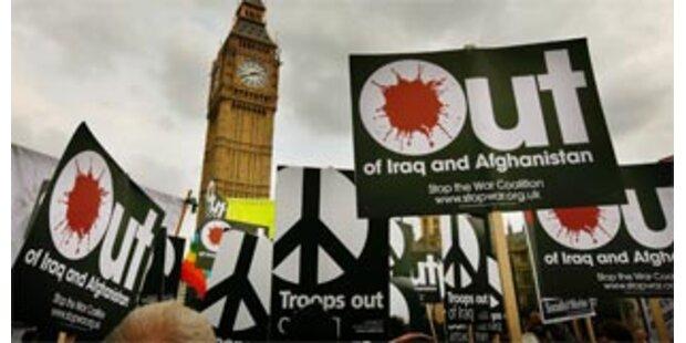 Zehntausende Briten für Rückzug aus dem Irak