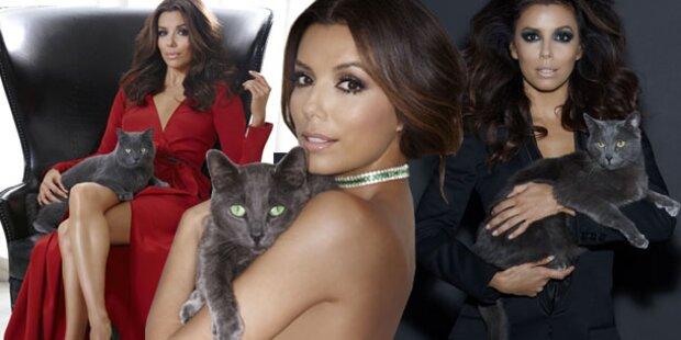 Housewive Longoria wirbt für Katzenfutter