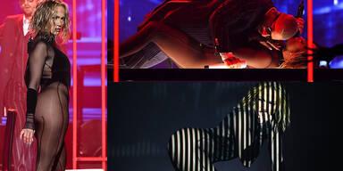 Jennifer Lopez fast nackt auf der Bühne bei den American Music Awards