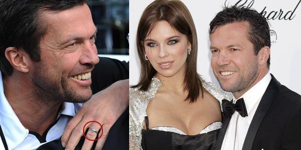 Matthäus trägt seinen Ehering wieder
