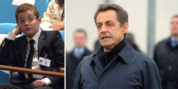 Sarkozy-Sohn warf Tomate auf Polizistin