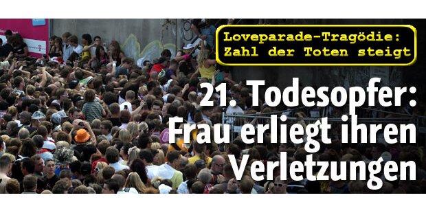 Loveparade-Drama forderte 21. Todesopfer