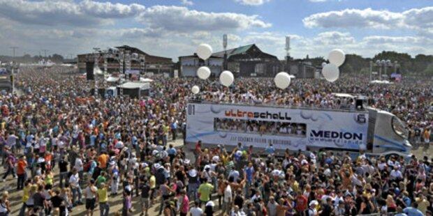 Nur 250.000 Besucher passten auf Gelände