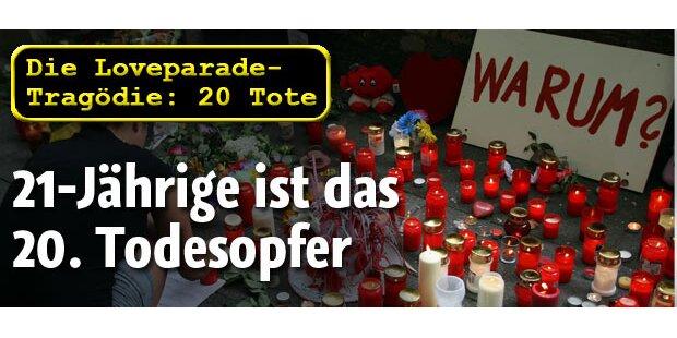 Loveparade: 20. Todesopfer bestätigt