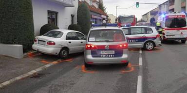 5 Polizisten bei wilder Verfolgungsjagd in NÖ verletzt
